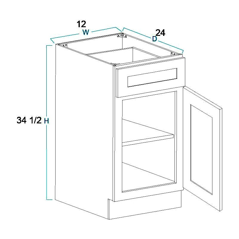 1 Door 1 Drawer Base Cabinets