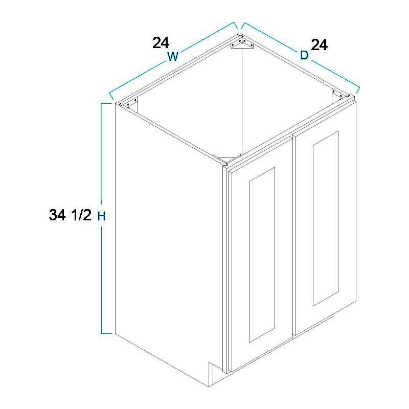 Full Height Door Base Cabinets-2 Door