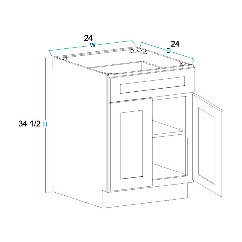 2 Door 1 Drawer Base Cabinets